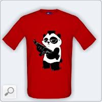 Triko s pandou zabijákem