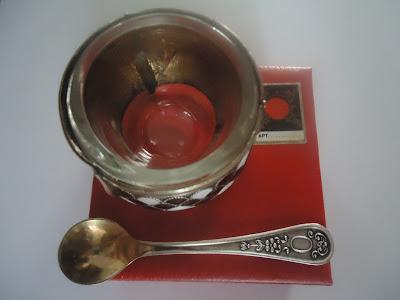 Russian Melhior/Soviet Era Enamel & Silver Alloy