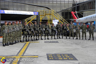 Comandos de la División de Aviación Asalto Aéreo del Ejército de Colombia.