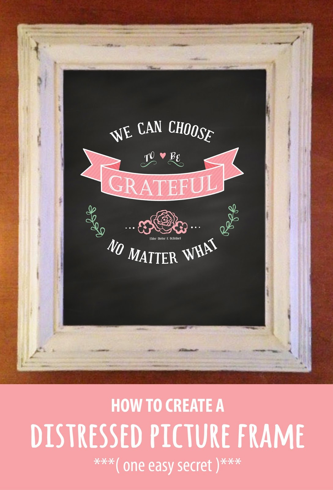How to create a distressed picture frame one easy secret how to create a distressed picture frame one easy secret jeuxipadfo Choice Image
