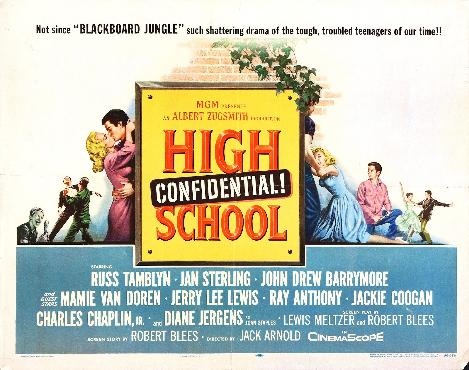 Full Film,High School Confidential 1958 Starring Mamie Van Doren