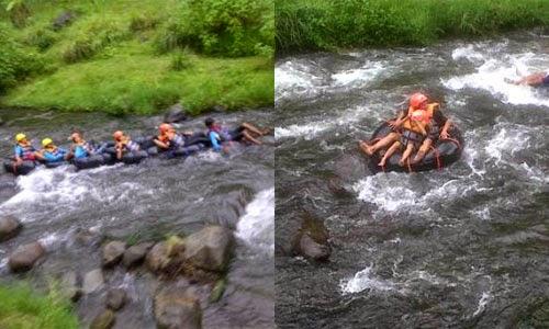 Body Rafting Di Lereng Gunung Semeru