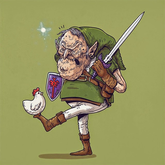 Link de Legend of Zelda - Famous Oldies por Alex Solis