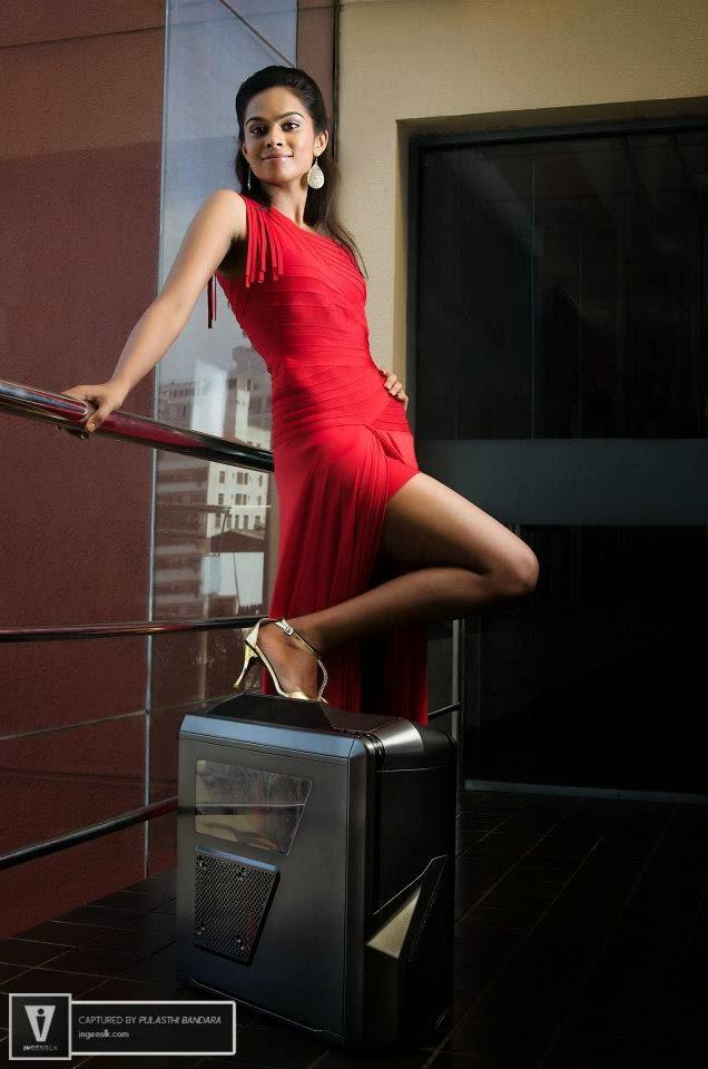 Ayanthi Matarage sexy red legs
