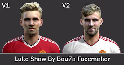 PES 2013 Luke Shaw V1 and V2 Face By Bou7a Facemaker