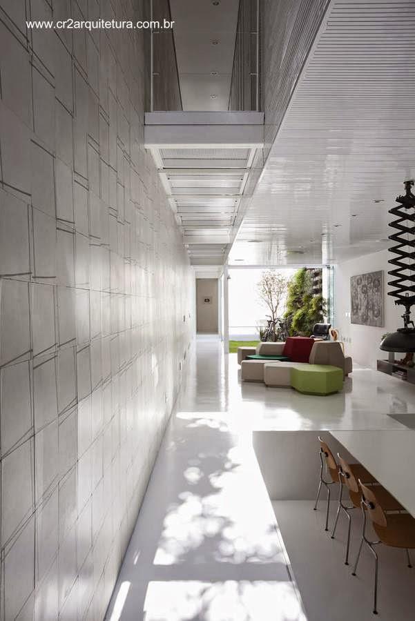 Vista del interior de la Casa 4x30 en San Pablo Brasil