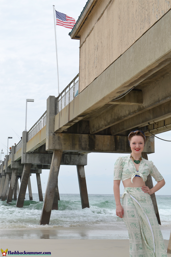 """Flashback Summer: Wearing History """"Sunkissed Sweetheart"""" 1940s Sarong Separates"""
