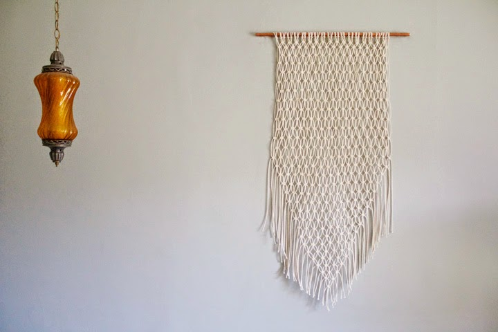 How To Make A Macrame Wall Hanging foxtail + moss: make / macrame wall hanging