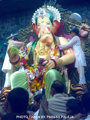 Lalbaugcha Raja 2011 in Light Green Dhoti