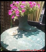 Πώς φτιάχνουμε ένα βάζο για τον κήπο μας από μια παλιά μπότα;