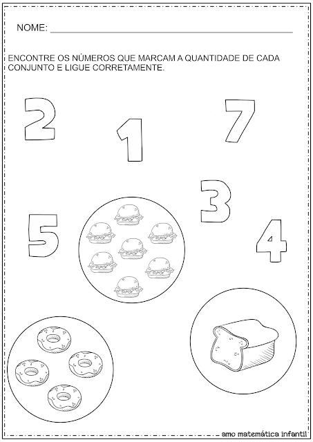 Número e Quantidade Conjuntos Atividades