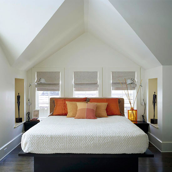 Bedroom Ceiling Interior Bedroom Ideas Attic Rooms Bright Bedroom Colour Ideas Striped Bedroom Curtains: New Home Interior Design: Favorite Real-Life Bedrooms