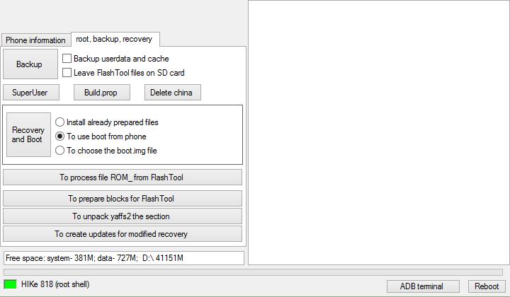 instal cwm dengan mtk droid tools