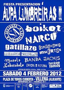 Aupa Lumbreiras 2012 en Villena y fiesta de presentación en febrero