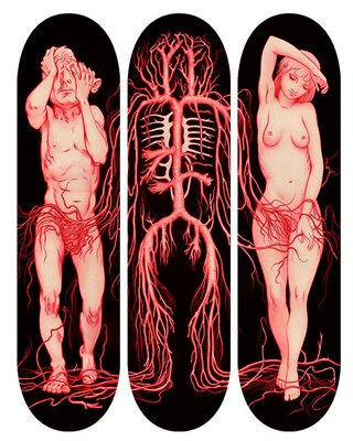 tribal skateboard design - skate deck arts