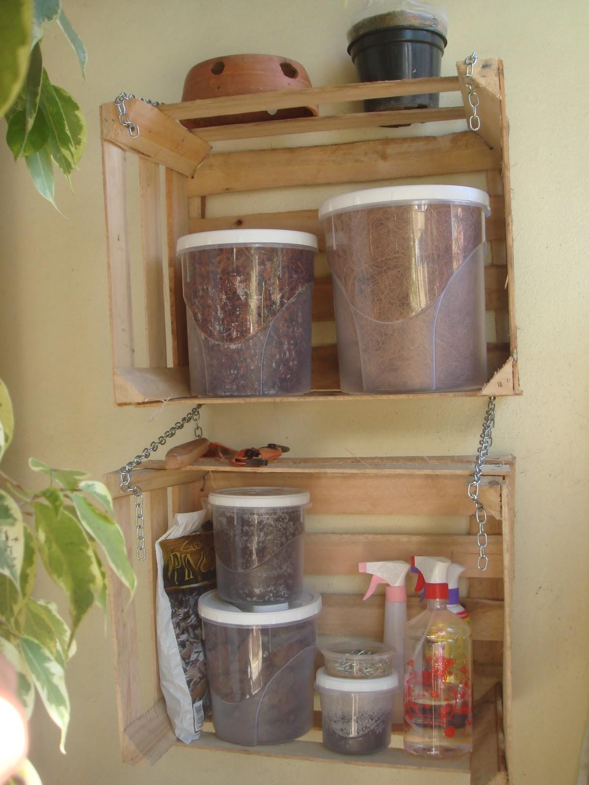 para jardim horizontal: casa e jardim de como aproveitar caixotes de  #4C5E1C 1200x1600