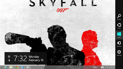 James Bond Sky Fall 007 Windows 8 Theme