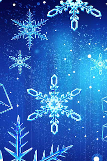 Christmas snowflakes wallpaper for iphone