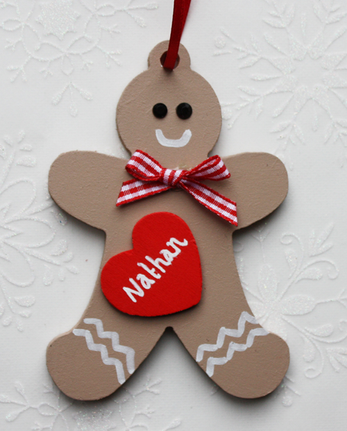 personalised gingerbread man tree decoration personalised snowman tree ...
