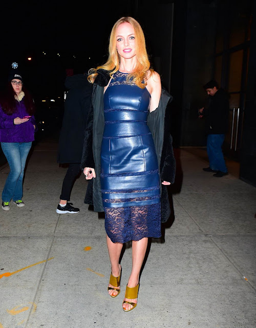 Actress, Model, @ Heather Graham - Leaving Watch What Happens Live, NYC