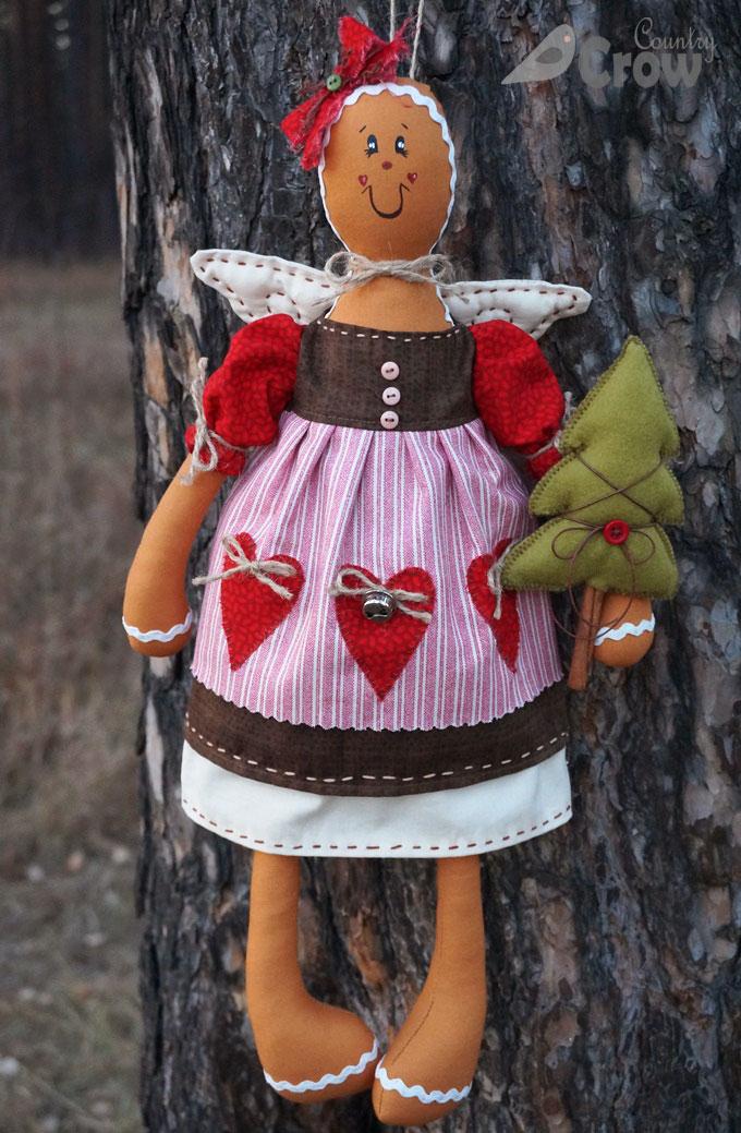 Пряничный человечек - текстильная кукла