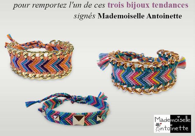 6 bracelets Mademoiselle Antoinette
