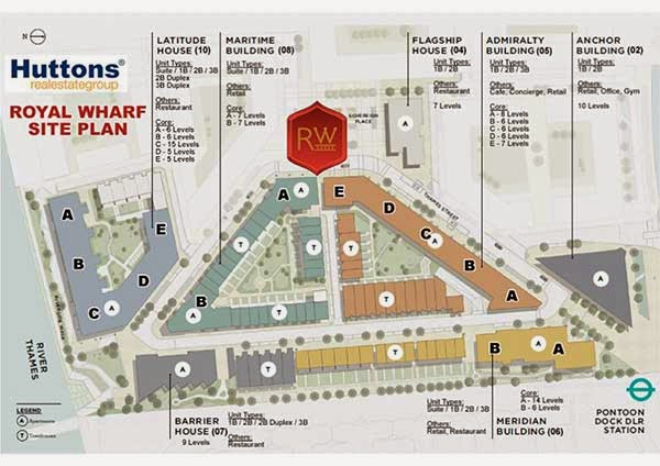 Royal Wharf London Site Plan