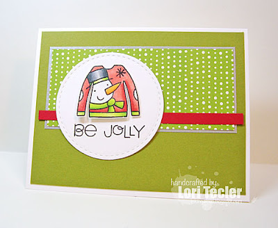 Be Jolly card-designed by Lori Tecler/Inking Aloud-stamps from Paper Smooches