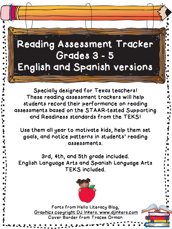 https://www.teacherspayteachers.com/Product/Reading-Assessment-Tracker-TEKS-aligned-384124