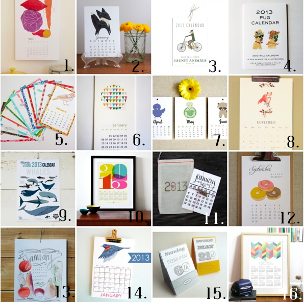 Calendar Picture Ideas : Etsy calendar roundup house of jade interiors
