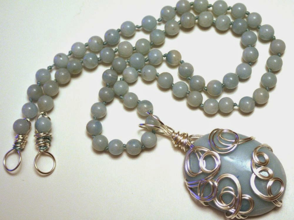 CC7A May: The Waterfall ~ amazonite, ooak necklace, wire wrapped :: All Pretty Things