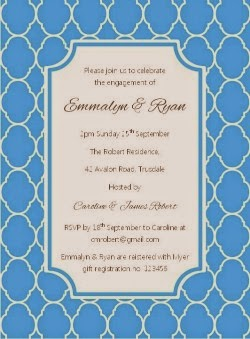 Quatrefoil Party Invitation - Sky