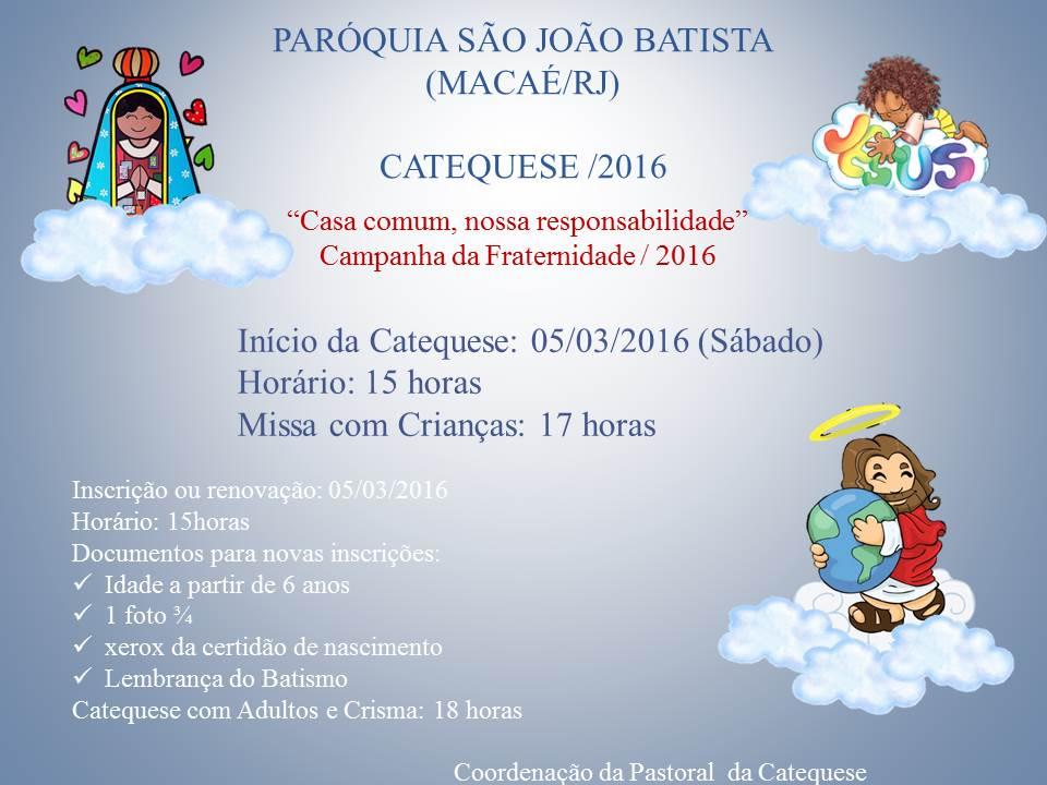 Catequese / 2016