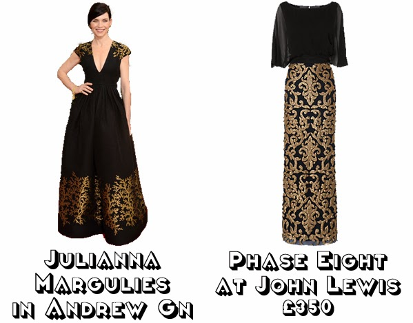 Steal Her style golden globes 2014  get the look red carpet fashion julianna margulies andrew gn phase eight john lewis