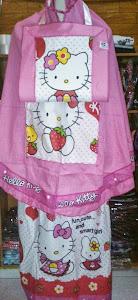 Mukena Anak Karakter Kitty Pink