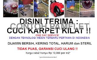 pamflet cuci karpet,cuci karpet bogor,cuci steam karpet, peluang usaha cuci karpet