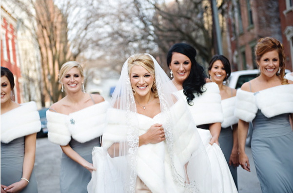Winter bridesmaid dress