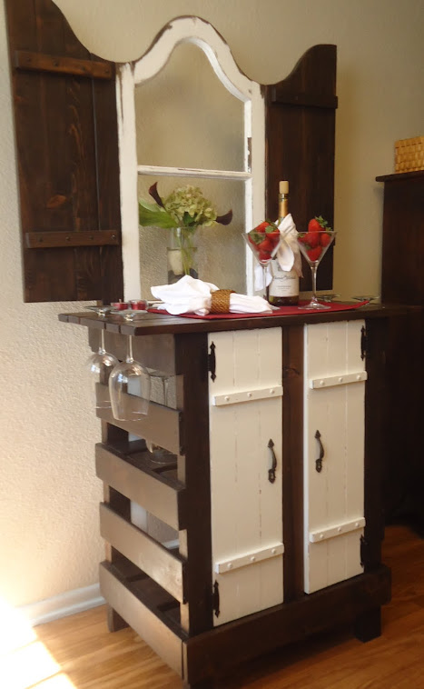 1924 French Window Table with Vintage Hardware-SOLD