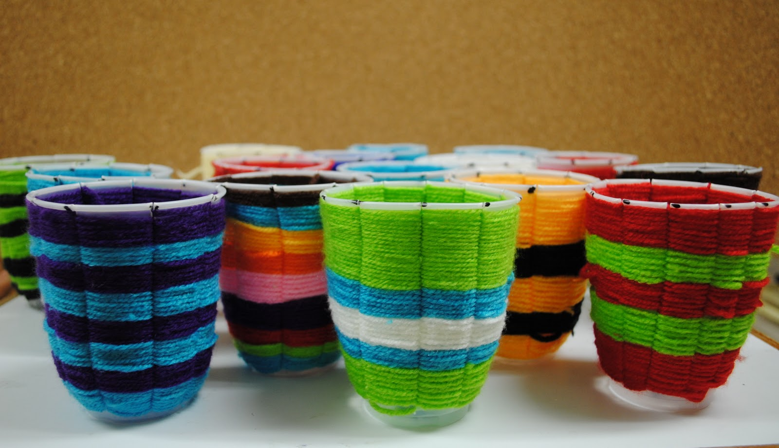 Woven Yarn Basket : Miss ambar?s art class weaving like the hopi people