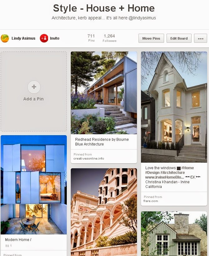 house and home pins on Pinterest for business to showcase
