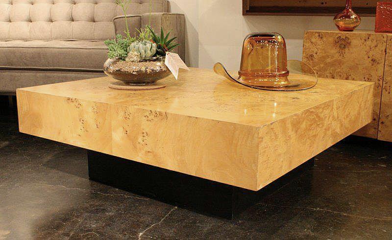 Milo Baughman Olive Wood Coffee Table