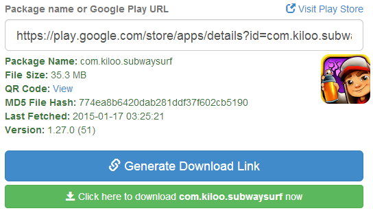 Keterangan dan link download aplikasi di apk downloader