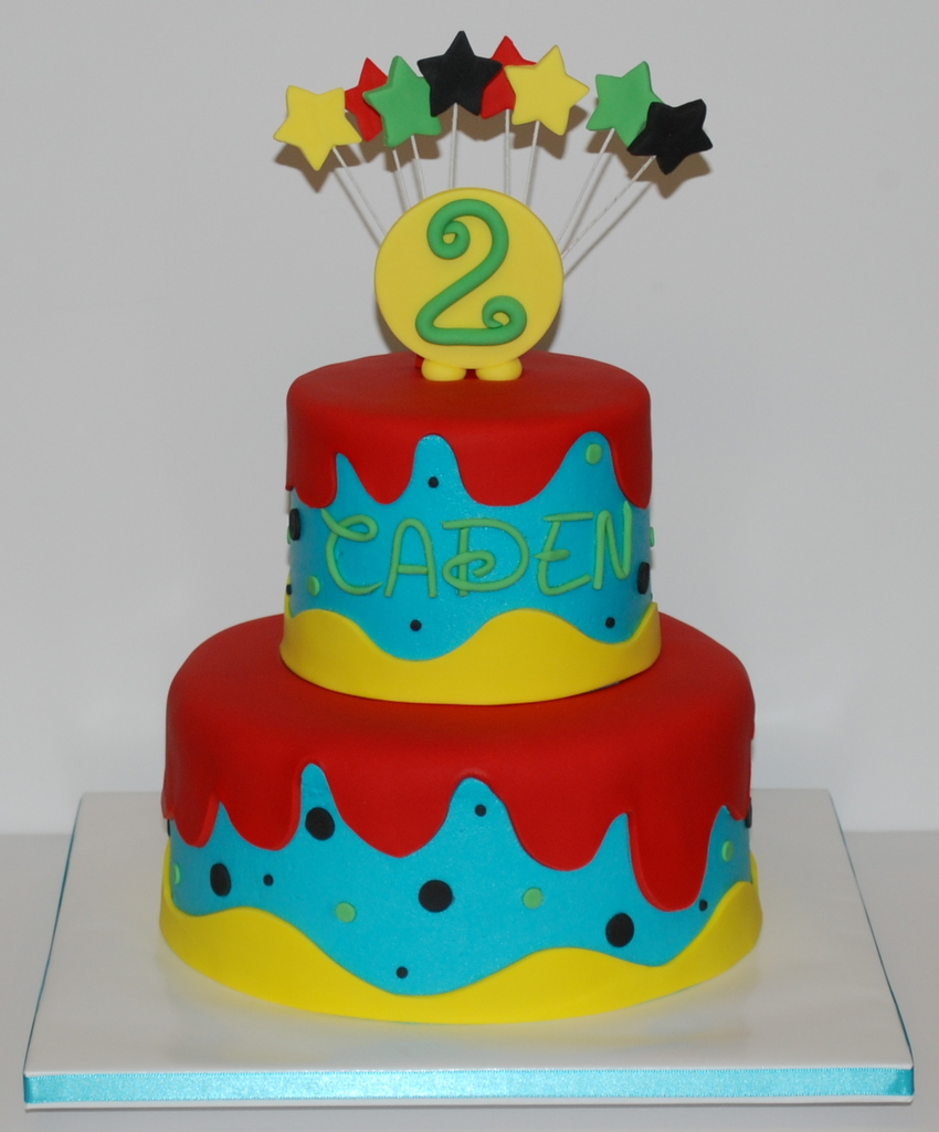 Birthday Cake Ideas For 2nd Birthday Boy : The Bakery Next Door: Bright Drippy Birthday Cake