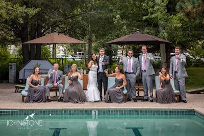 Monochromatic grey bridal party attire l Plumpjack Squaw Valley l Johnstone Studios l Take the Cake Event Planning