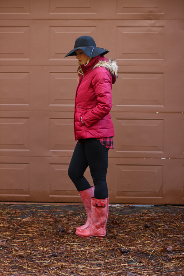rain boots and jacket for rainy days