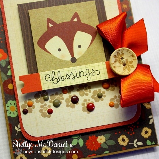 Fox Fall card by Shellye McDaniel for Newton's Nook Designs | Falling into Autumn Stamp set