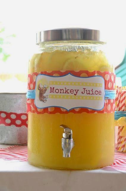 bebida -  dica festa infantil bh - tema macaco