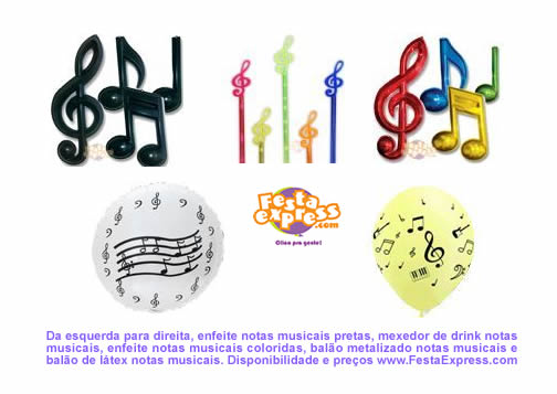 decoracao festa notas musicais:Dicas Artigos para Festa: Festa das notas musicais