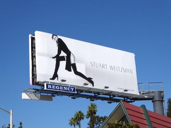 Stuart Weitzman boots F/W 2015 Gisele billboard