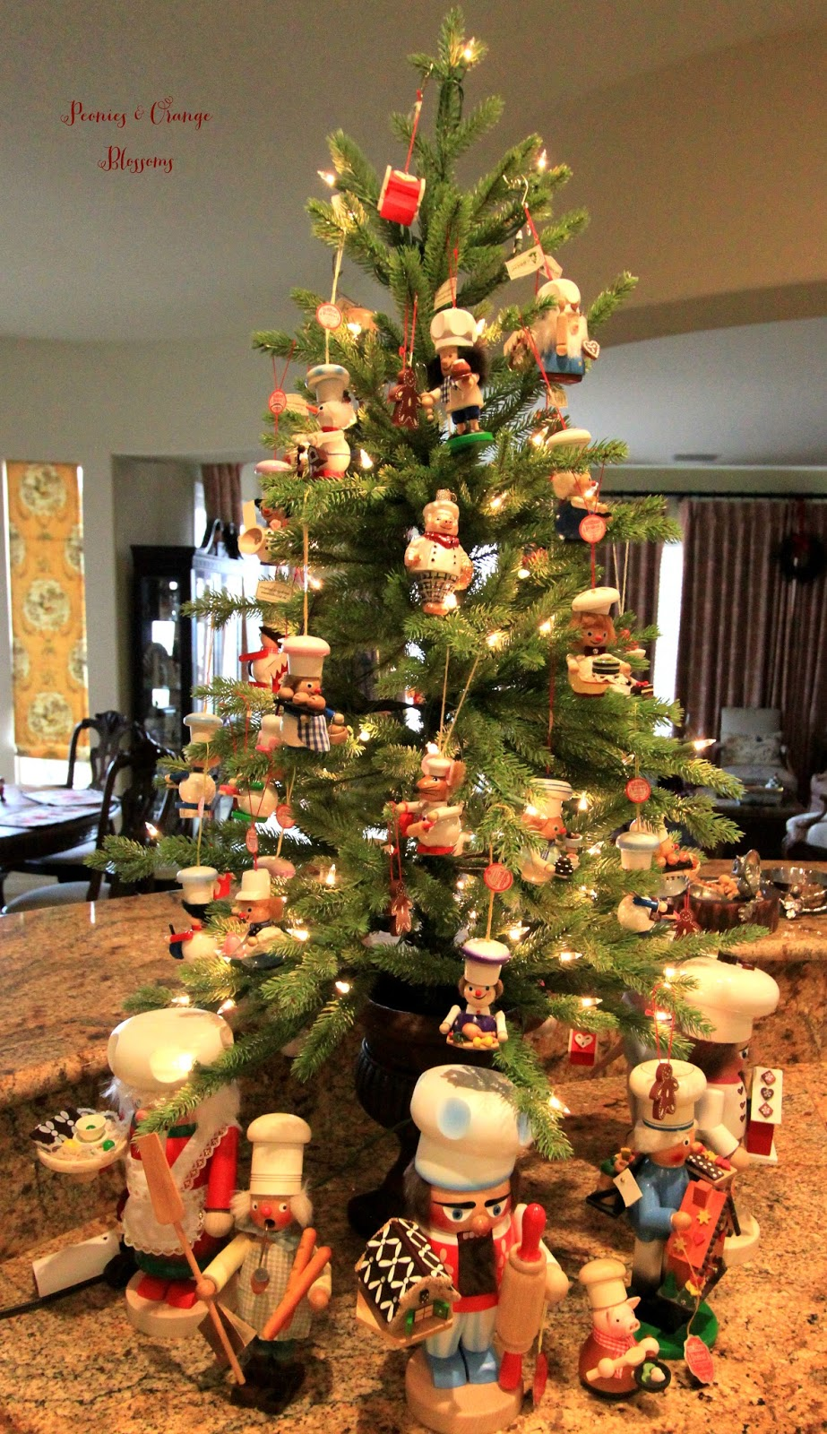 Kitchen Christmas Tree With Chef Ornaments Petite Haus